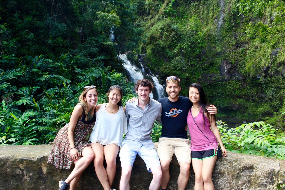 From left: Me (Amanda), Emily, Matt, Max and Rachel. We all squeezed into a rental car to drive the Road to Hana.