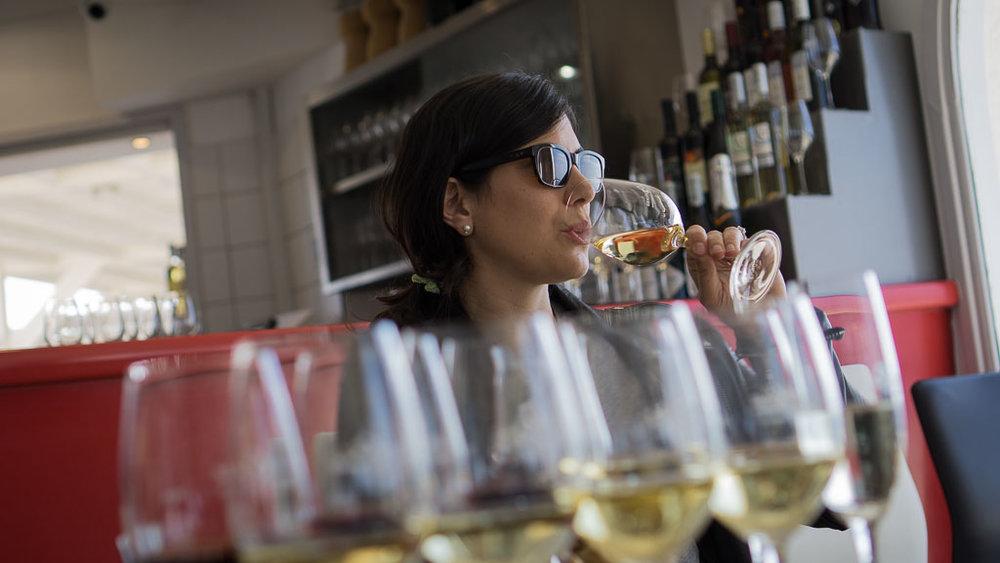 Wine tasting at Santo