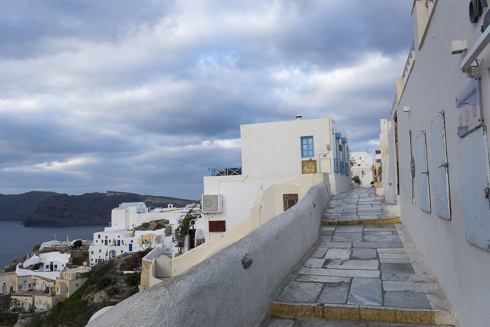 Oia first thing in the morning