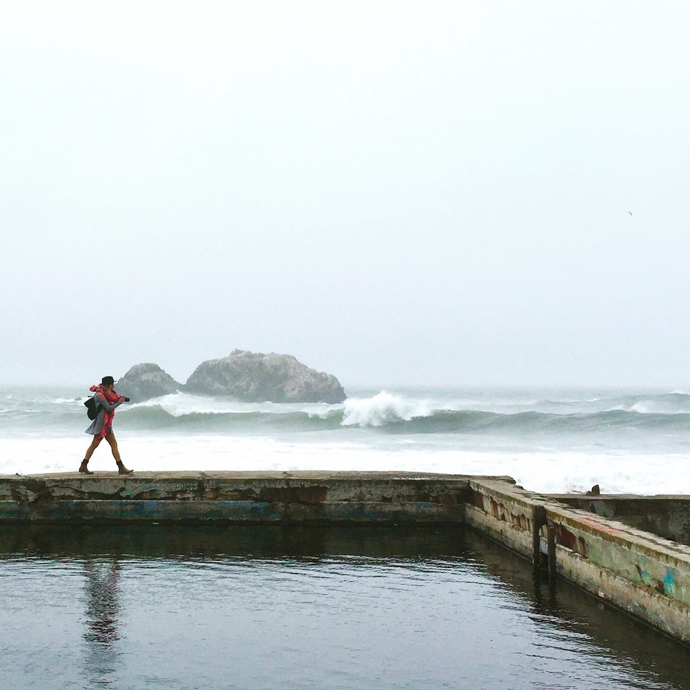 A foggy day at the Sutro Baths Ruins. (October, 2016)