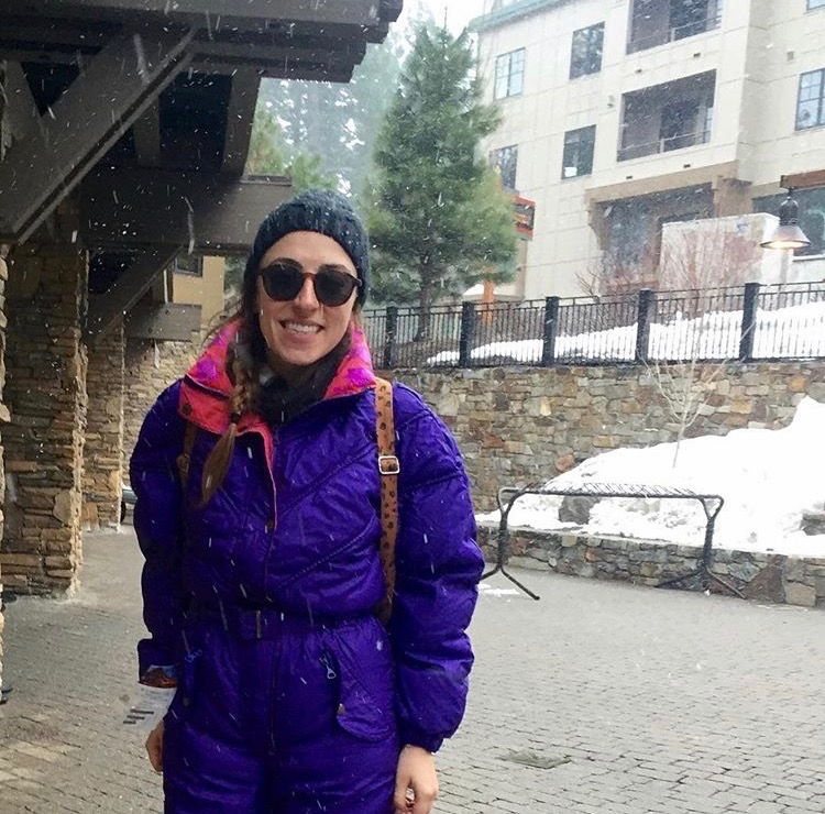 Snow in Tahoe! I'm rocking my 90's onesie snowsuit that I found on  Poshmark . (February, 2016)
