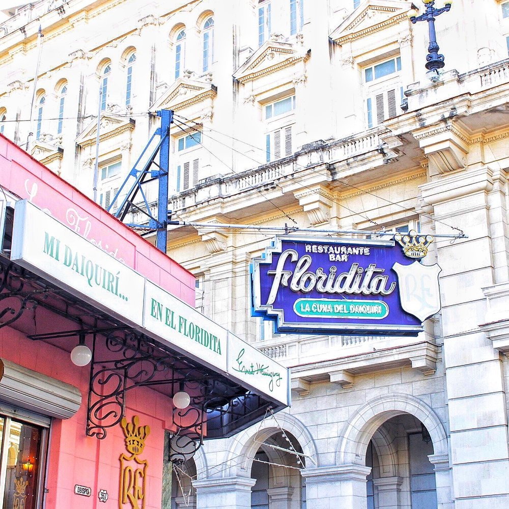 You can find El Floridita on the main drag in Habana Vieja.