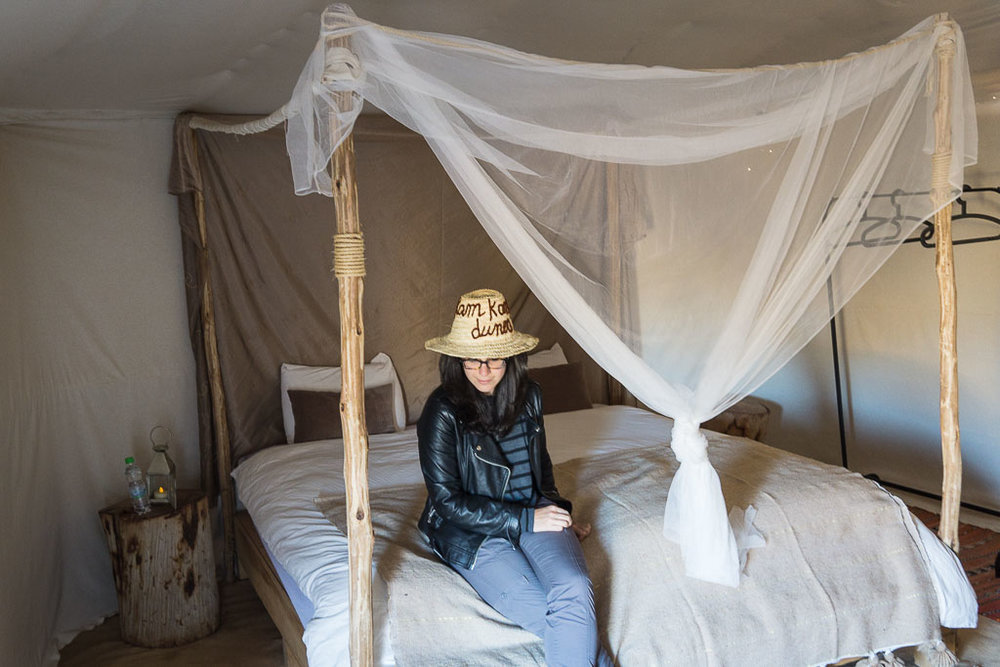In our Berber tent.