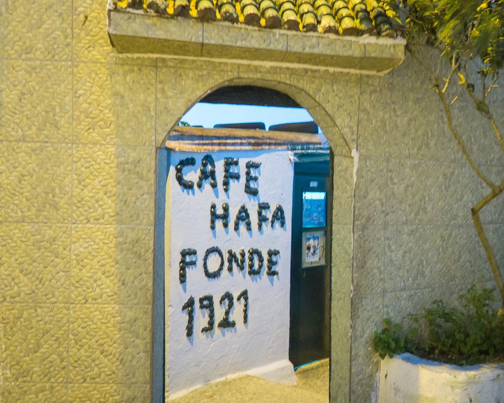 Entrance to Café Hafa