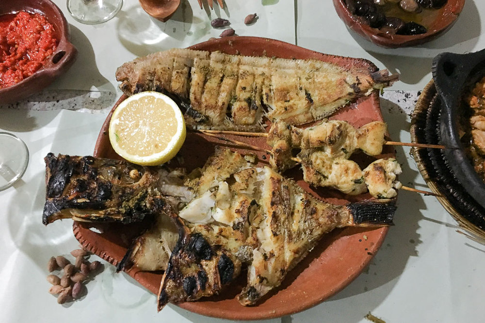Fresh grilled fish.