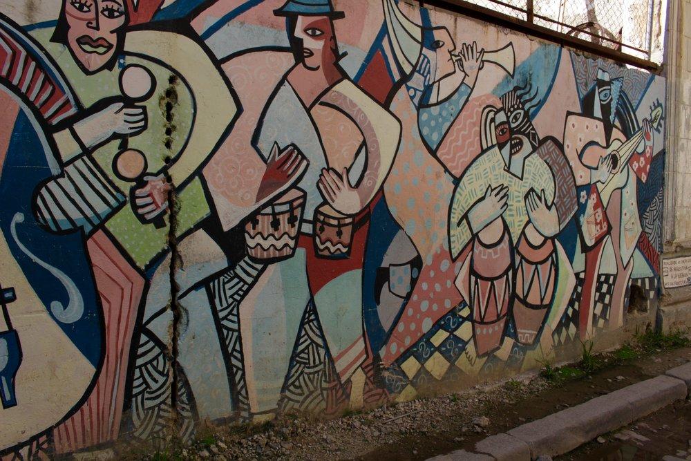 Art on the streets of Havana, Cuba.
