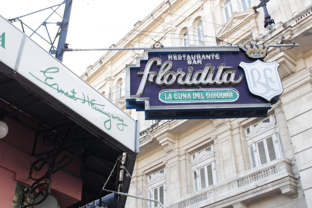 La Floridita was a favorite spot of Hemingway in the 1930s.