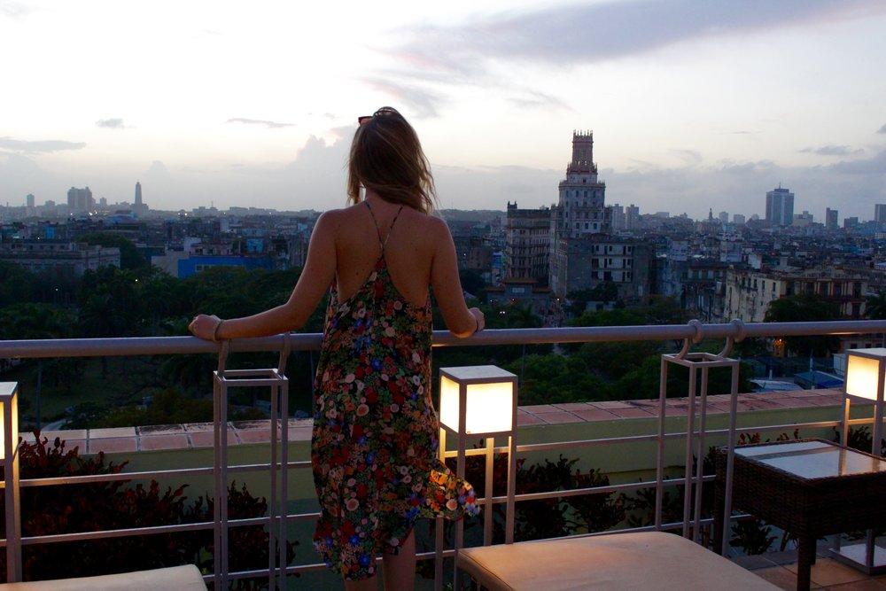 Sunset at Hotel Saratoga.
