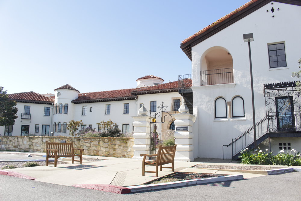 The architecture in Monterey is a mix of adobe and colonial style. It was coined Monterey Colonial and started by Thomas Larkin who moved to Monterey from Boston in 1835.