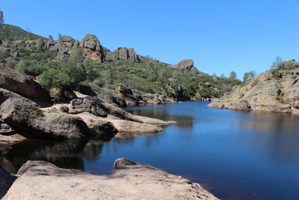 Bear Gulch Reservoir in Pinnacles National Park.