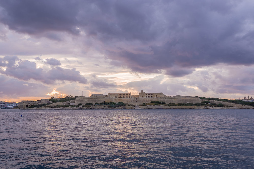 Sunset over Manoel Fort.
