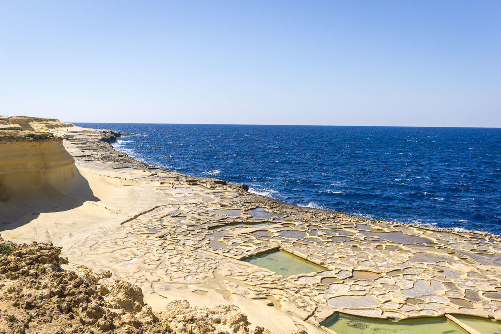 The Salt Pans on Gozo.