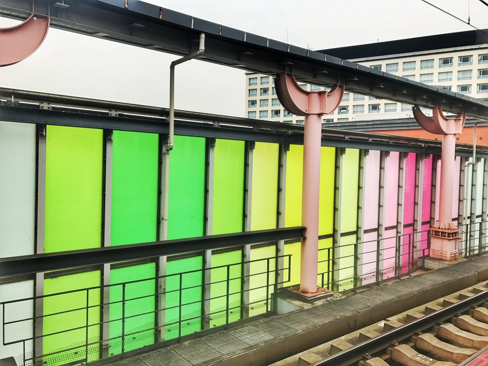 The trains were a bit difficult to navigate, but the stations sure were colorful!