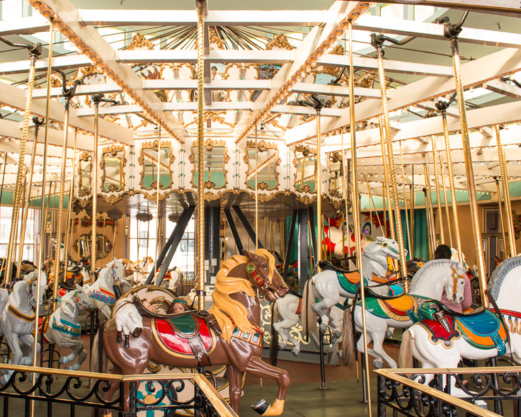 The Merry-Go-Round at Santa Cruz Beach Boardwalk.