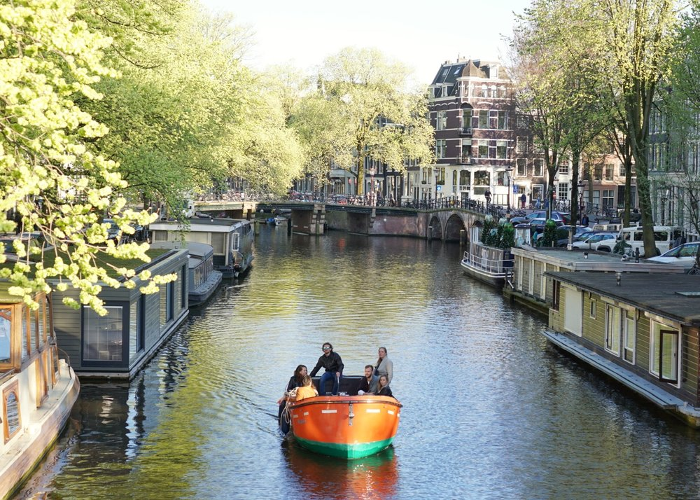 The classic Amsterdam canals. March, 2017