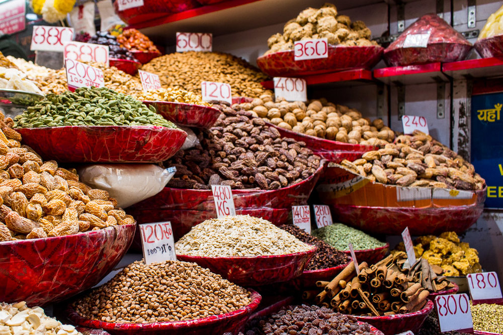 I loved walking through the spice market and seeing all of the options. We bought some masala to put in our tea, which is a common practice in India.