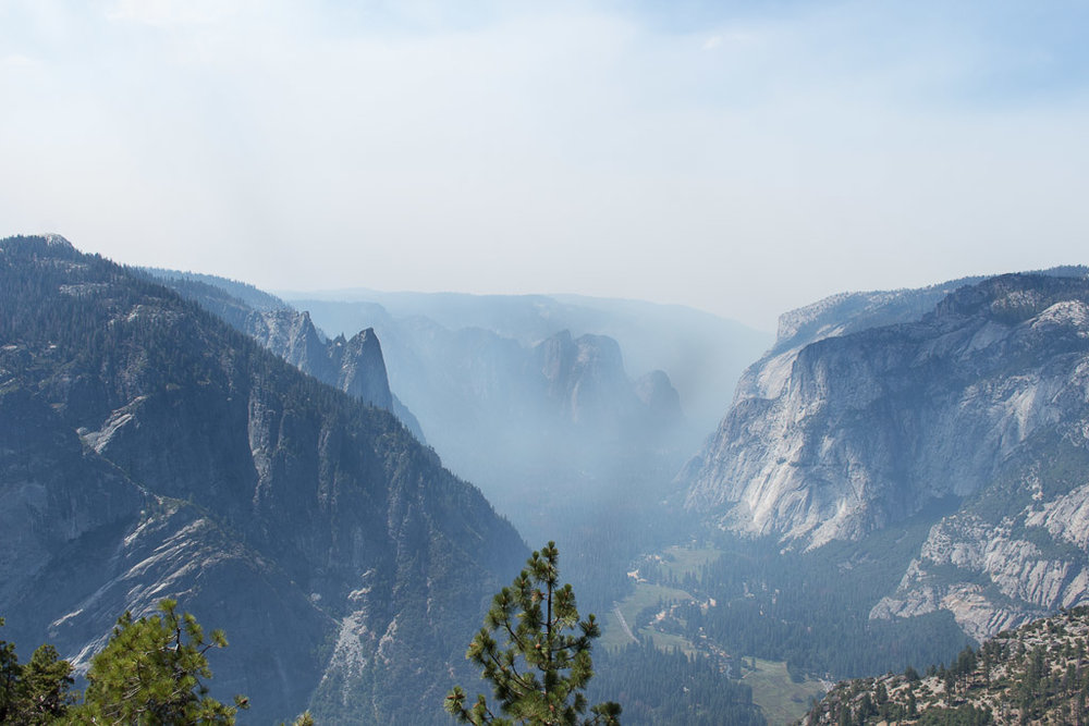 The Yosemite views.