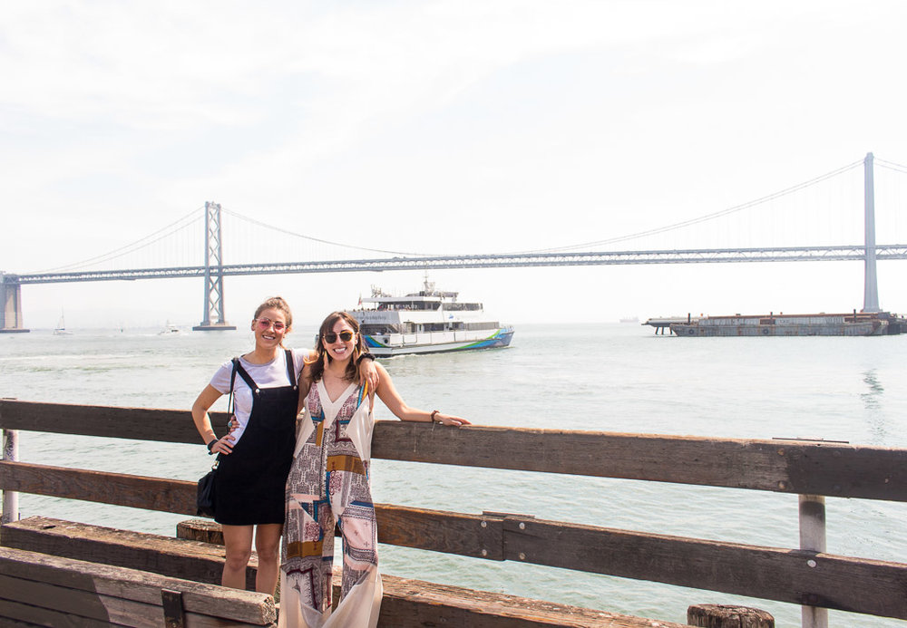 My sister and I at the Ferry Building in San Francisco, California.