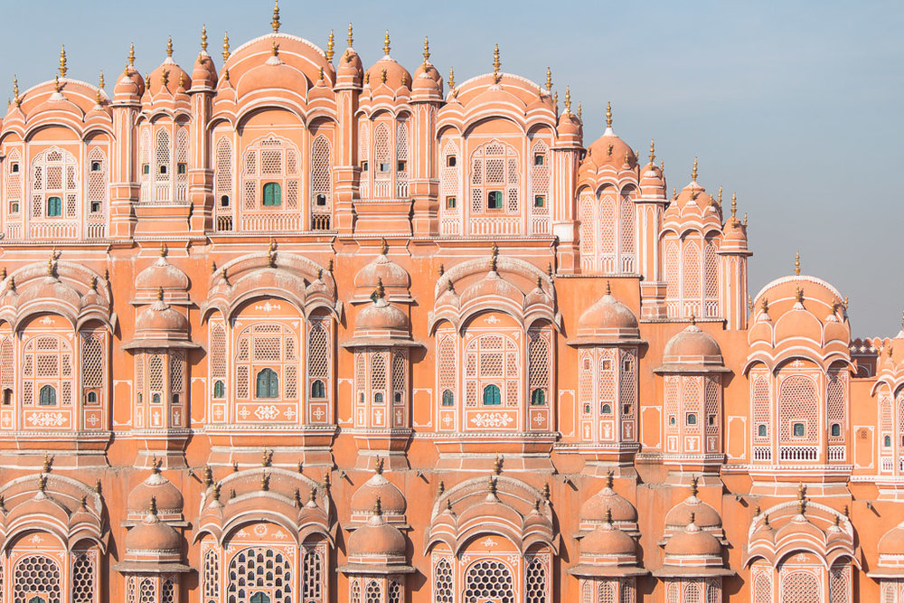 The Hawa Mahal in Jaipur, India.