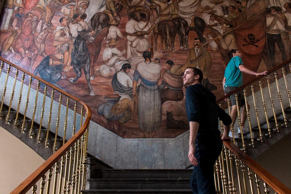 My friends Dom & Tom admiring the murals.