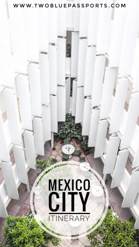 An itinerary sharing what to see in Mexico City in 3 Days. This includes what to do, see, eat and where to stay.
