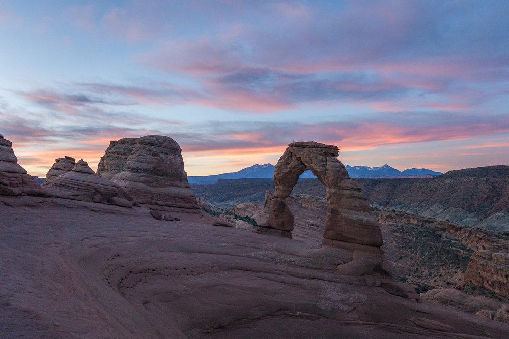 Delicate Arch at sunrise