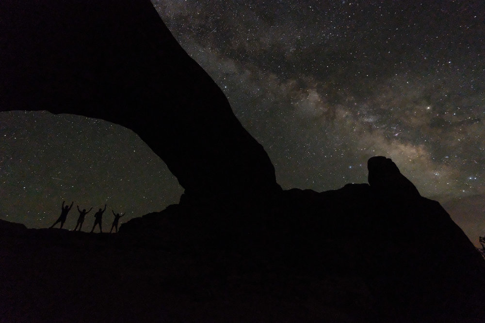 The Milk Way over North Window. Yes, that's us under the arch.