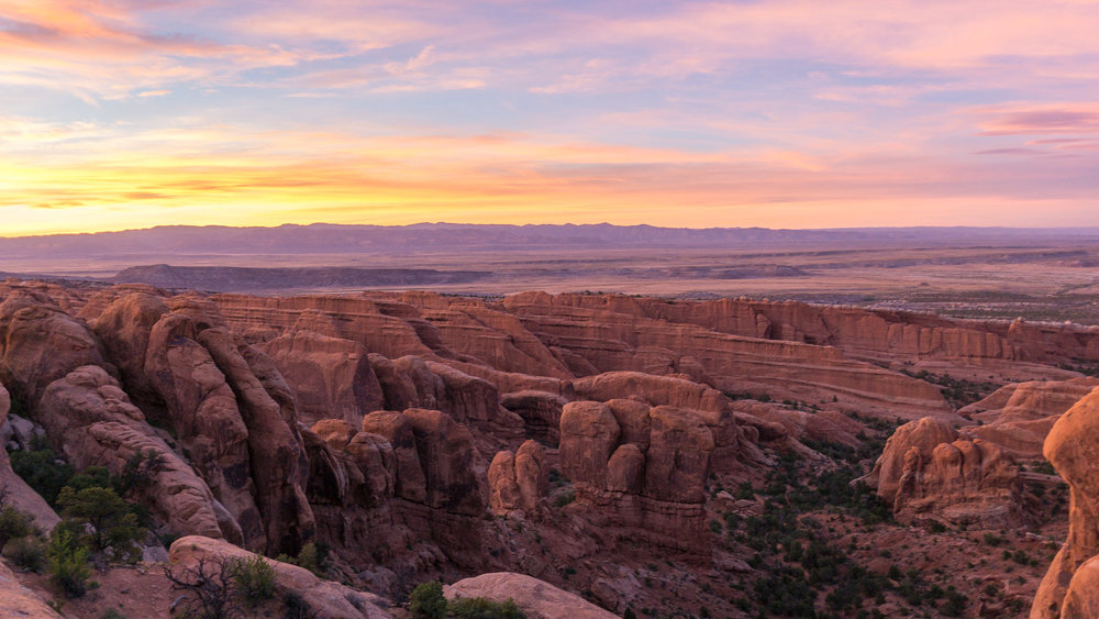 The most epic sunset over Arches National Park