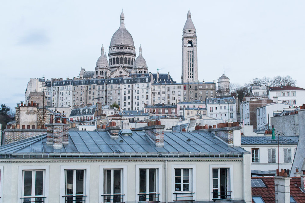Sacre Coeur view from the window of our Airbnb.