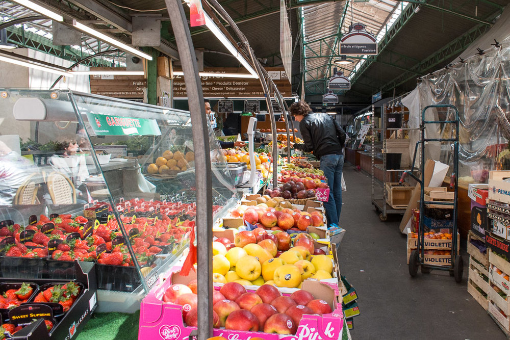 The market side of Marche Couvert.