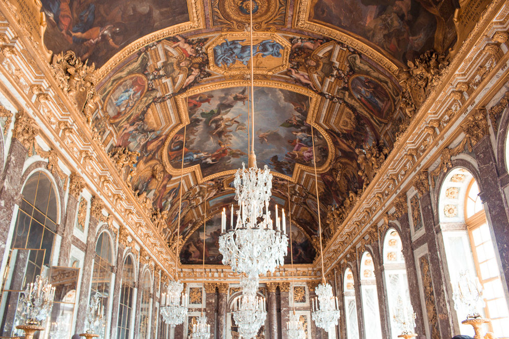 The only part of the Versailles tour that had crowds was inside the Hall of Mirrors.