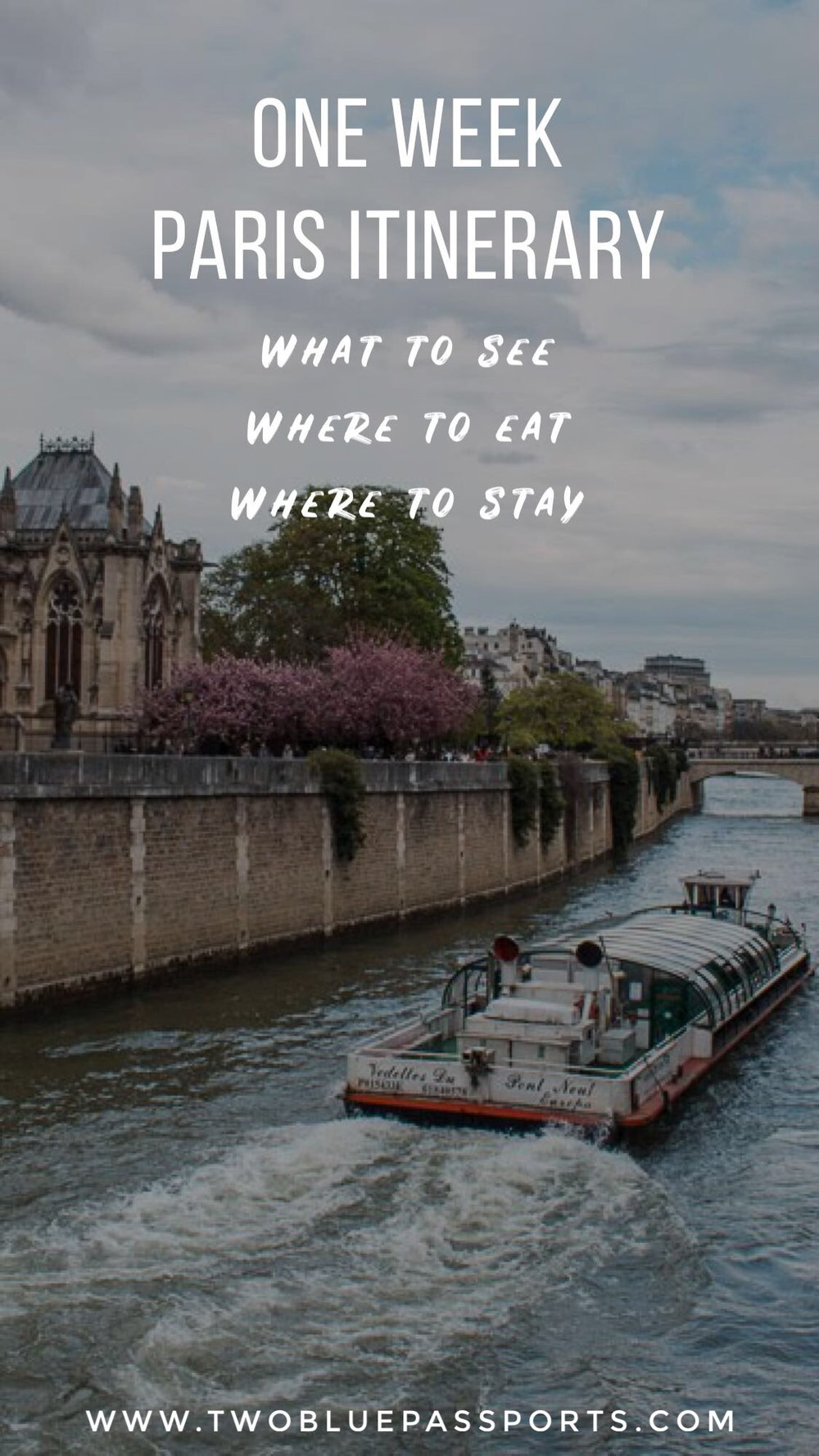 One week itinerary for Paris, France including what to see, where to eat, where to see and insider tips to help plan your trip.