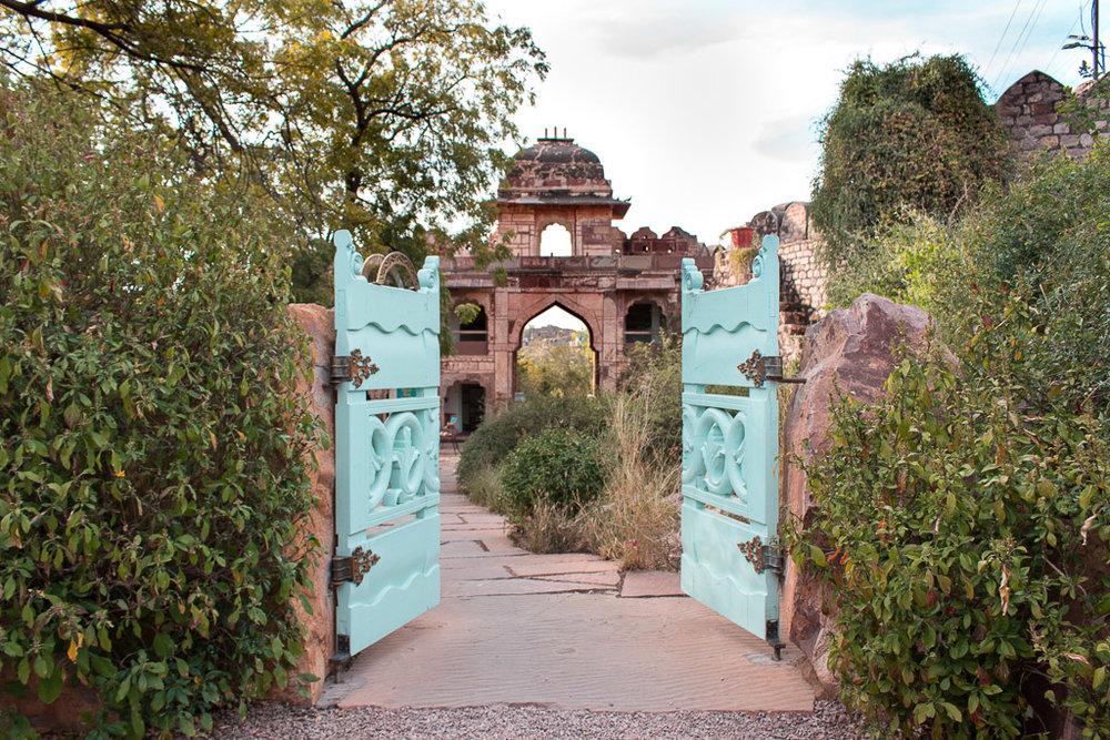The entrance to Desert Rock Park.