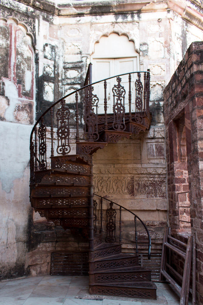 I fell in love with this spiral staircase inside Mehrangarh Fort.