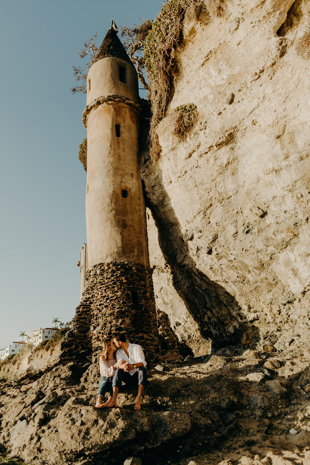 This is Pirate Tower, located at Victoria Beach in Laguna Beach, CA. We visited at sunset for our engagement photo shoot! (Photo cred:  @apartment3photography )