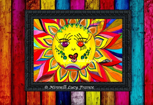 """No it's not a sun, it's a sun flower called """"Flower Dance"""", I was bored and made the paper wiggle and it looked like he was dancing. What?!.. it looked cool for a sec."""