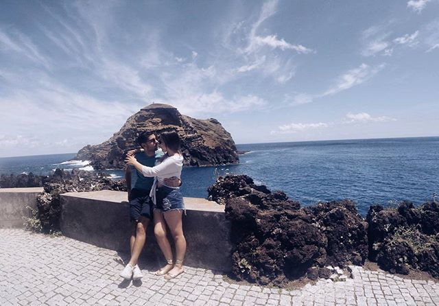My best friend, my human diary, my personal comedian, my travel buddy and above all, my soul mate ❤🙏 #grateful #couple #love #madeira #portomoniz #couplewhotravel #travelblogger #dreamandwander #wanderlust #happiness