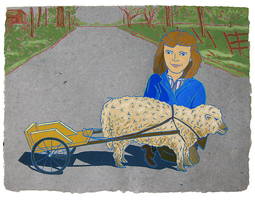 "The Ladies: Mary Virginia Dexter, Wisconsin,  2012  12"" x 16"" Flashe on paper"
