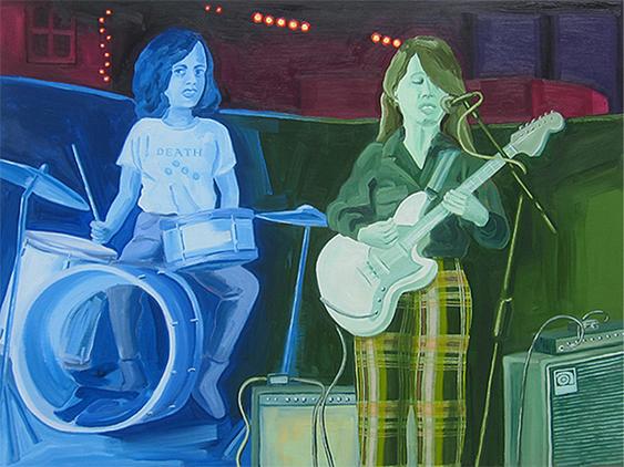 "GALPALS , 2014  36"" x 48"" Oil on canvas"