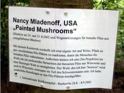 Waldkunstpfad,  2002  Darmstadt, Germany