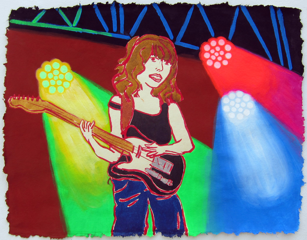 "Courtney Barnett , 2015  19""x25"" flashe on paper"