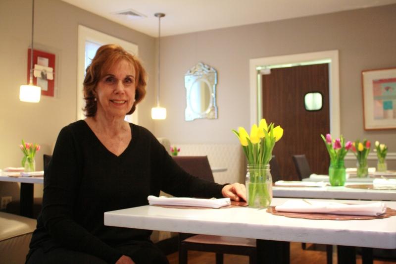 Helen Wasserman inside her new restaurant at Helen's