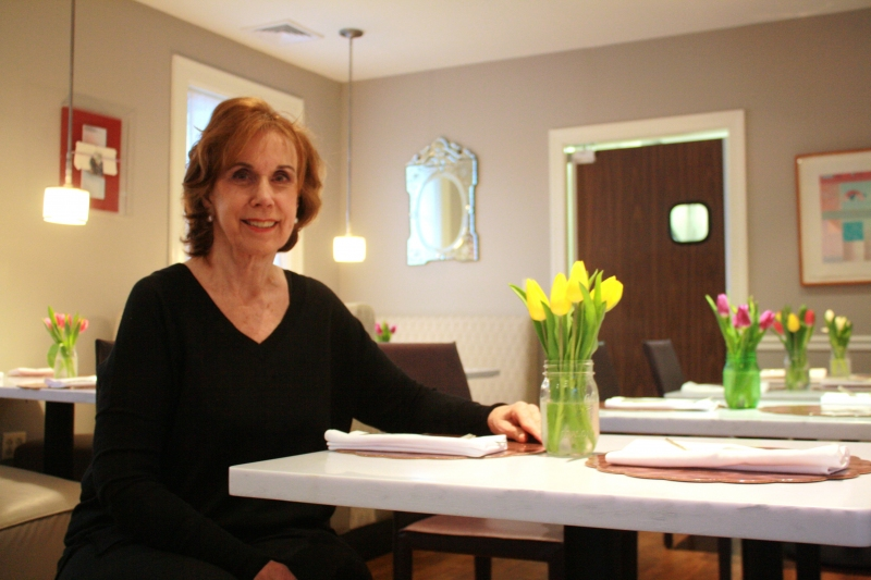 Helen Wasserman  has over thirty-five years of catering and restaurant experience.    A graduate from L'Academie de Cuisine, a professional culinary school in Gaithersburg, she would oftentimes host dinner parties and cater for close friends. Over time she has built her business and expanded it to serve large parties and corporate clients. In the 1980s, she started her first restaurant, also called Helen's, located in Washington, DC of what is known now as the Adams Morgan area.  A framed menu from that restaurant hangs in her new restaurant.  Helen has   also included a popular dish from the old restaurant, cheese wontons with guacamole. The menu for Helen's on the Pike features the Asian fusion items she is known for in her catering business, such as edamame dumplings and salmon spring rolls. Other items include grilled lamb chops with pickled eggplant salad and herbed yogurt, sirloin beef sliders wrapped in puff pastry, and chicken served with raspberry vinegar, shallots and plum tomatoes and topped with strawberries and basil.  Most of Helen's staff has worked for her over 15 years.