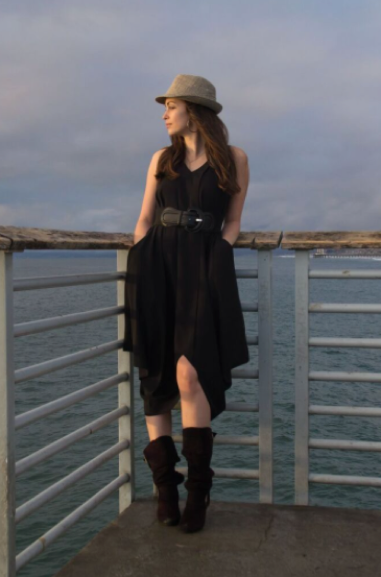 Photo: Katie in Mitera's Katie Dress in Black