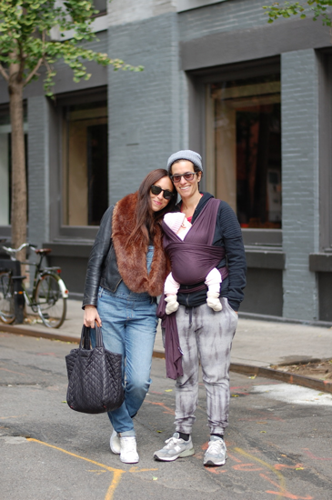 Jenny, Vida Rose and Dina on the street of NYC