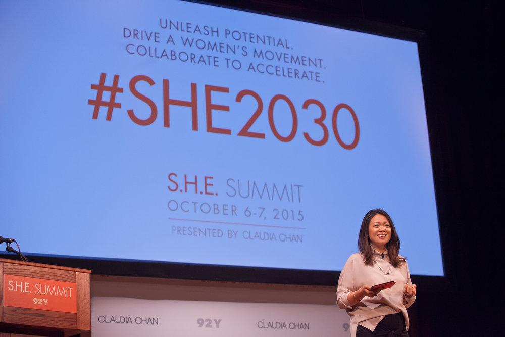 Claudia Chan at 2015 S.H.E Summit