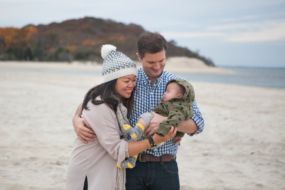 Claudia Chan Family on Beach