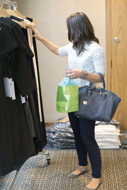 Customer Shopping at the pop-up shop