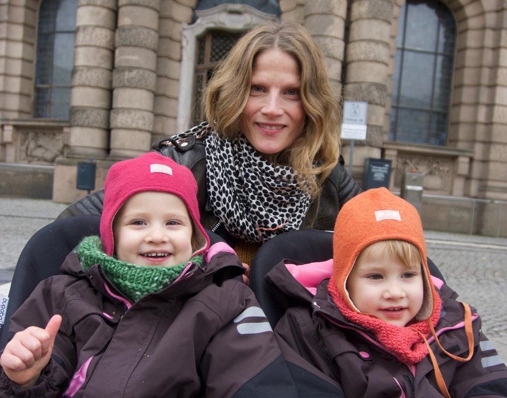 Brigitta with her twins
