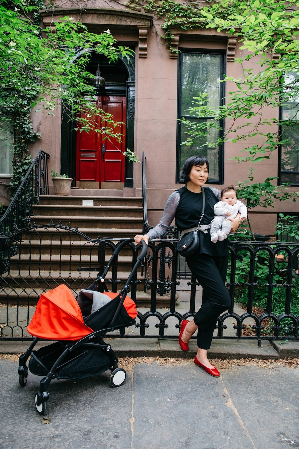 Photo by  Mariliana Arvelo   Aya Kanai with her daughter Rei, wearing the Mitera  Jade Top  &  Doreen Pants